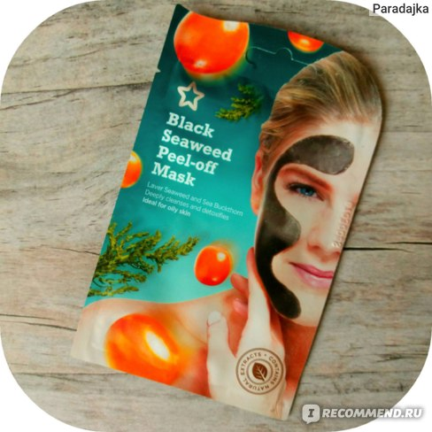 Маска-пленка для кожи лица Superdrug Black Seaweed Peel-off Mask фото