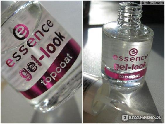 Верхнее покрытие лака для ногтей Essence Защитное средство для укрепления ногтей с суперблеском Essence Gel-look topcoat фото