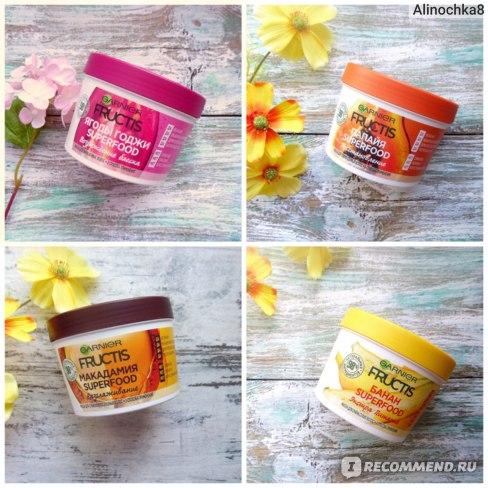 """Маска для волос Garnier Fructis Hair Mask Superfood """"Банан"""" Экстрапитательная фото"""