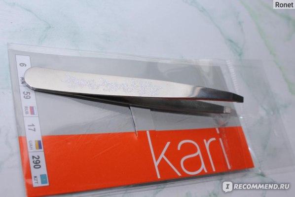 Пинцет для бровей Kari  фото