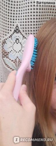 Щётка-выпрямитель для волос Mizuhi Brush Hair Straightener фото