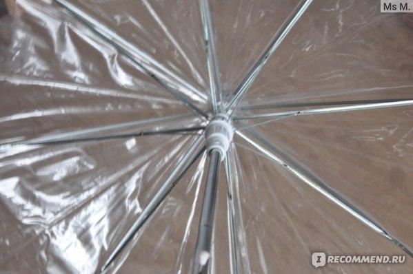 "Зонт-трость Storm Duds Прозрачный Style 5100P 32"" CLEAR VIEW BUBBLE DOME UMBRELLA with PRINTED EDGE фото"
