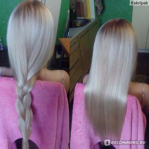 волосы осветляет только краска!!!!!!!