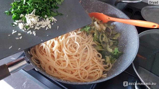 спагетти с овощами без масла