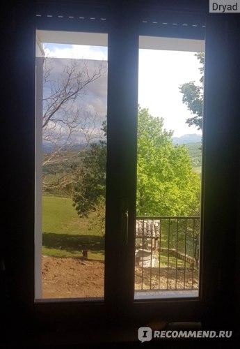 зеркальная пленка на окнах до и после