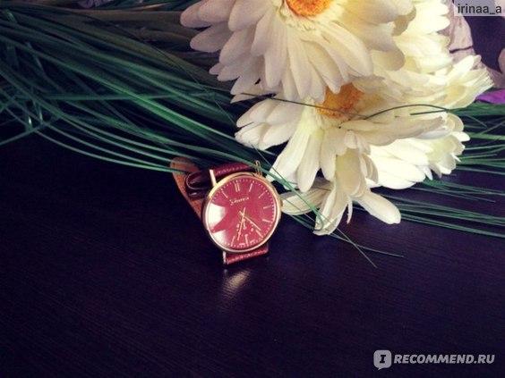 Часы женские Aliexpress 2015 Fashion Geneva Watch Women Wristwatch Cow Leather Casual Watch Analog Quartz Watch Women Dress Watch Relojes Clock фото
