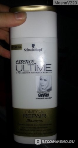 Шампунь Schwarzkopf Essence Ultime Omega Repair фото