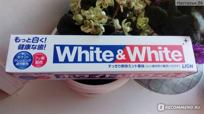 Зубная паста Lion White & white фото