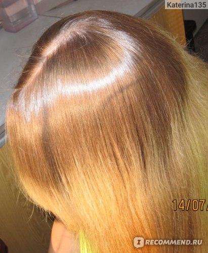 здесь аргановое масло выдерживала 14 часов, затем ополаскивала только аиром, волосы высушены без фена