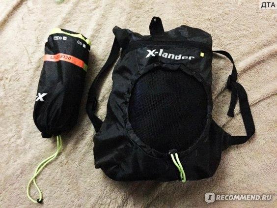 Вот так хорошо упакован в легкий рюкзачок- утепленый конверт для коляски который шел в подарок к коляске,и дождевик который приобрела отдельно