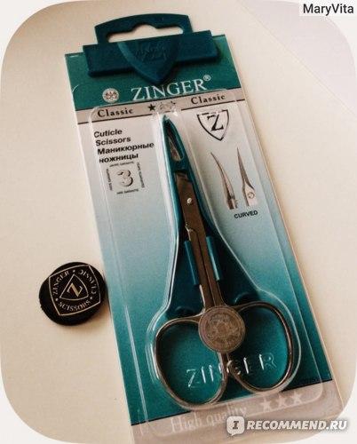 Ножницы для кутикулы с изогнутыми лезвиями Zinger Cuticle scissors Маникюрные ножницы B 128 S IS фото