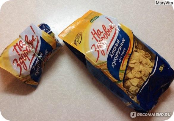 Кукурузные хлопья На здоровье! Без сахара фото