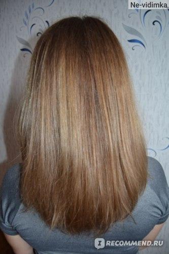 Волосы (после окрашивании) после шелка при сушке феном