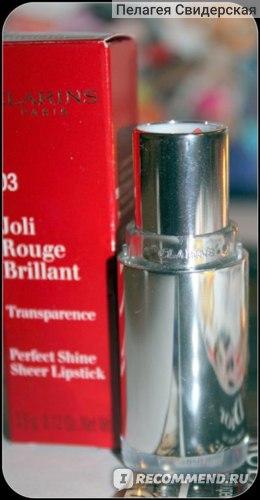 Помада-блеск Clarins Joli Rouge Brillant фото
