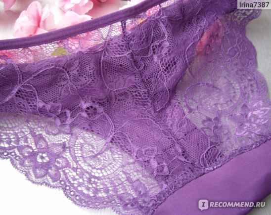 Трусики AliExpress Women Lace Sexy Panties,Ultra-Thin Transparent Flower Embroidered Patterned,Plus Size Underwear Seamless фото