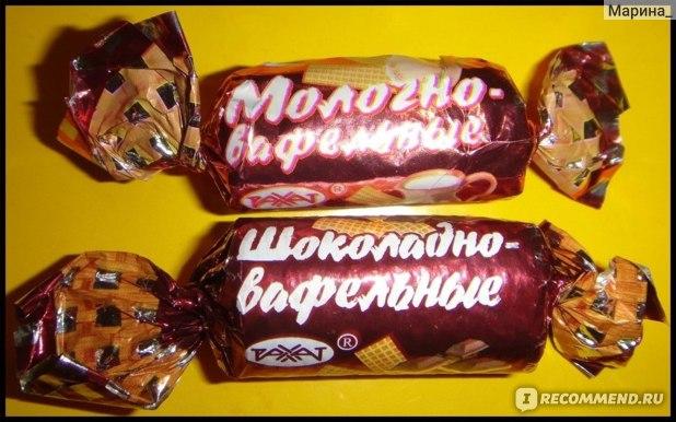 Конфеты РАХАТ Шоколадно-вафельные фото