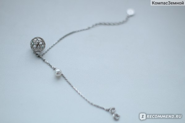 Браслет из серебра SOKOLOV  с жемчугом; Арт.94050401 фото