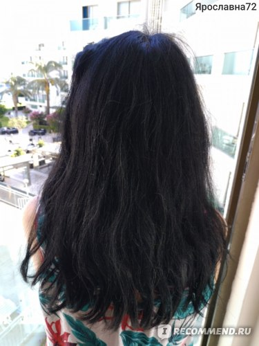 Волосы после посещения моря и бассейна, до мытья