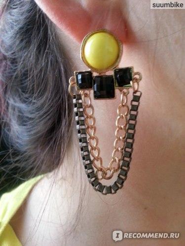 Серьги Sophisticated Glaring Captivating Popular Square Gems Tassel Earrings фото