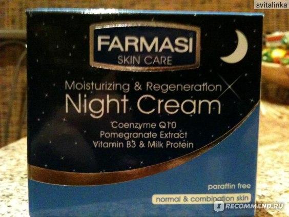 Крем для лица ночной Farmasi  для нормальной и комбинированной кожи фото