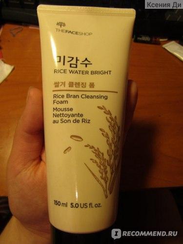 Пенка для умывания The Face Shop Rice Water Bright Cleansing Foam фото