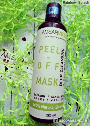 Маска-пленка для кожи лица Amsarveda Для глубокого очищения пор  фото