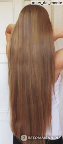 Фото волос после использования шампуня. Волосы высушены естественным путем.