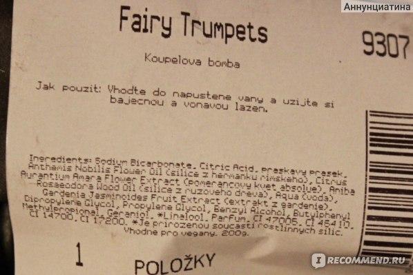 Бомба для ванны Lush Fairy Trumpets фото