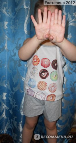 "Пижама Пятерочка ""Пончики"" артикул 6GSS-2371 фото"