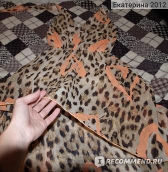 Молодёжная одежда Dress Code леопардовый сарафан с асимметричным подолом фото