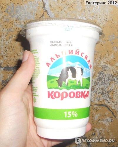 Сметана   Альпийская коровка фото