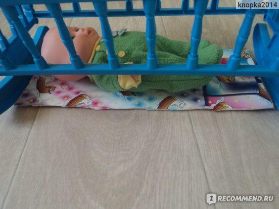 Мега тойс Кроватка для кукол фото