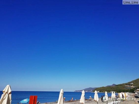 Пляж утром сентябрь 2020 Криница