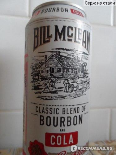 Винный напиток Bill Mclean Со вкусом бурбон-кола. фото