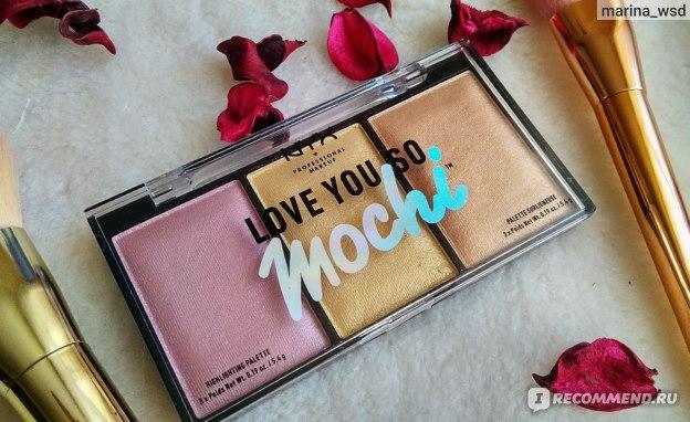 Палетка хайлайтеров NYX Love You So Mochi Highlighting Palette фото