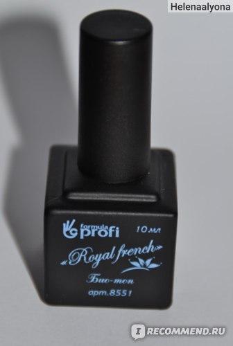 """Верхнее покрытие для гель-лака Formula Profi """"Royal french"""" био-топ для ногтей фото"""