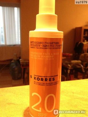Солнцезащитный спрей Korres для лица и тела фото