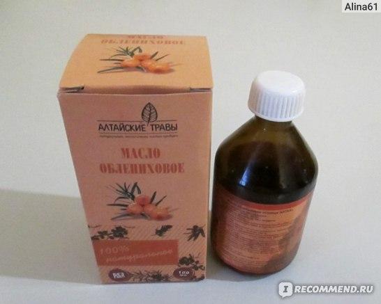 облепиховое масло в бутылочке
