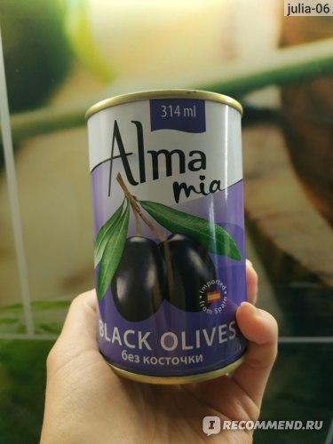 Маслины Alma mia без косточки на природной горной воде фото