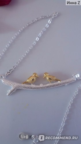 Колье-подвеска Aliexpress 2015 Fashion 925 Sterling Silver Bird Necklaces & Pendant Pure Sterling Silver Choker Necklace Jewelry Collar Colar de Plata фото