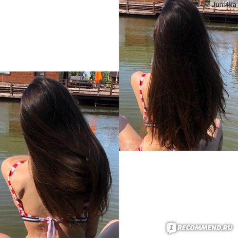 Волосы после шампуня OGX