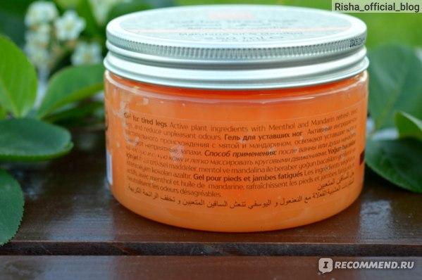 Гель для уставших ног Milla Halal Cosmetics С маслами мандарина и ментола фото