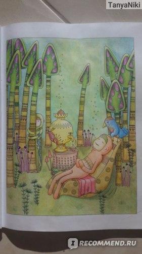 Страница из раскраски Зендудлы Диляры Голубятниковой. Разные карандаши, в т.ч. ErichKrause