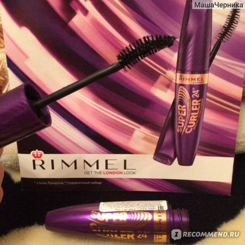 Тушь для ресниц Rimmel 24HR Supercurler Mascara фото