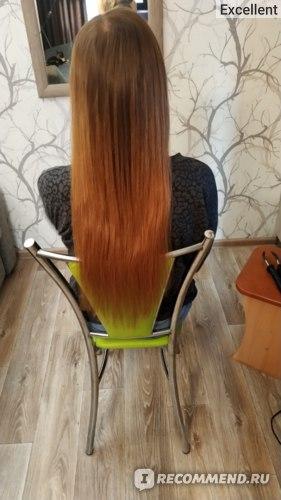 Наращивание волос кератином фото