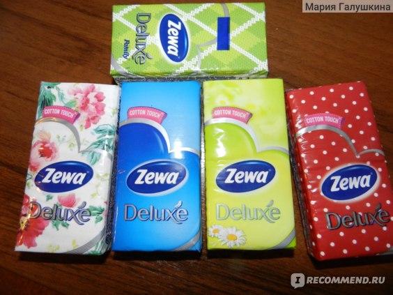 Бумажные носовые платочки Zewa Cotton touch фото