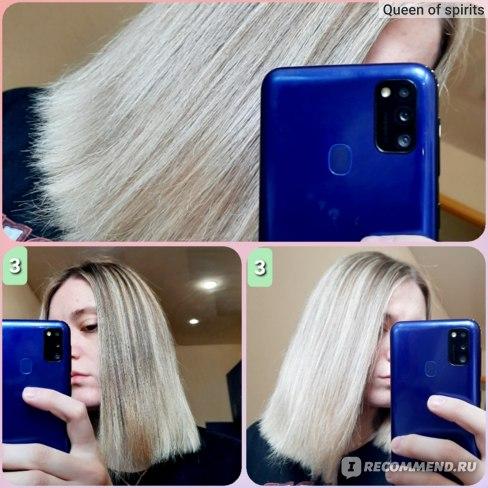 Эффект: ботокс + укладка феном вдоль роста волос