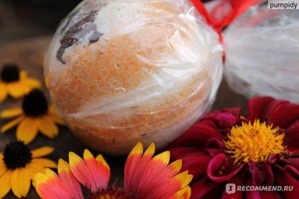 Бурлящий шар для ванн Клеона Цветок страсти фото