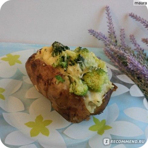 фаршированный брокколи картофель