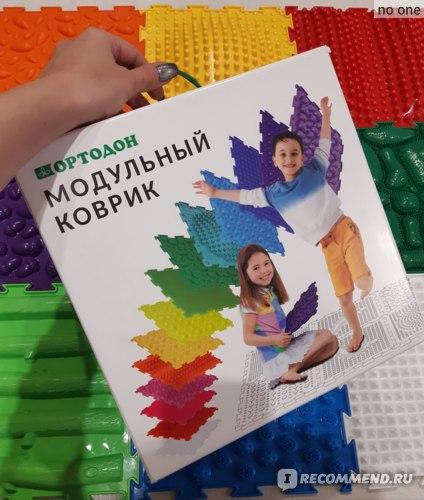 Модульный массажный коврик  Ортодон набор Шлёпа фото